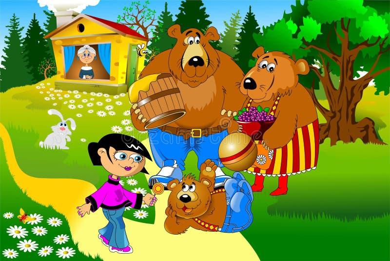 Ursos da casa ilustração do vetor