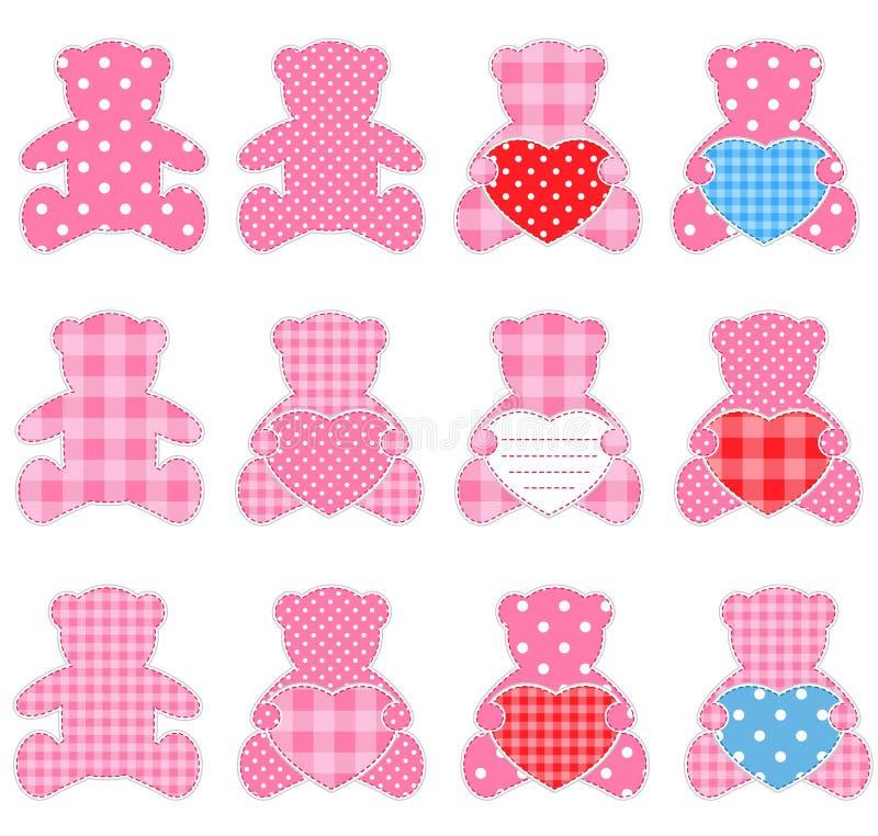 Ursos da cor-de-rosa ilustração stock