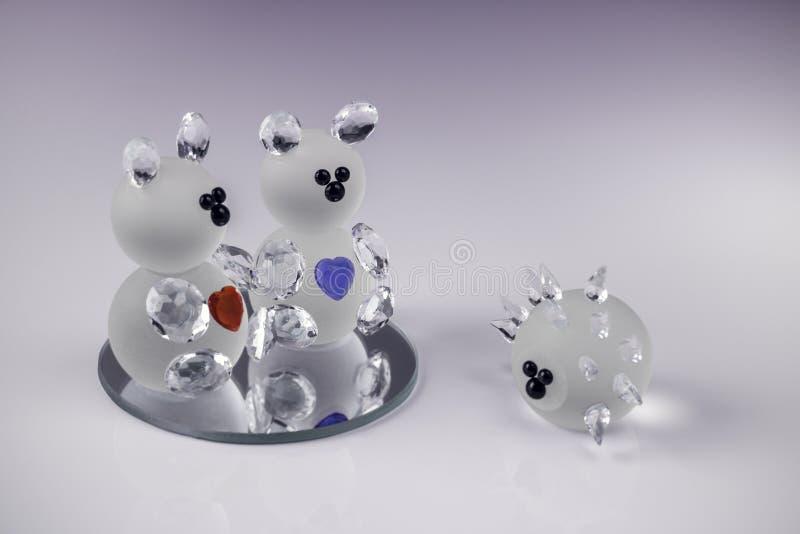 Ursos de cristal imagens de stock