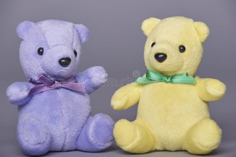 Ursos de peluche dois imagens de stock