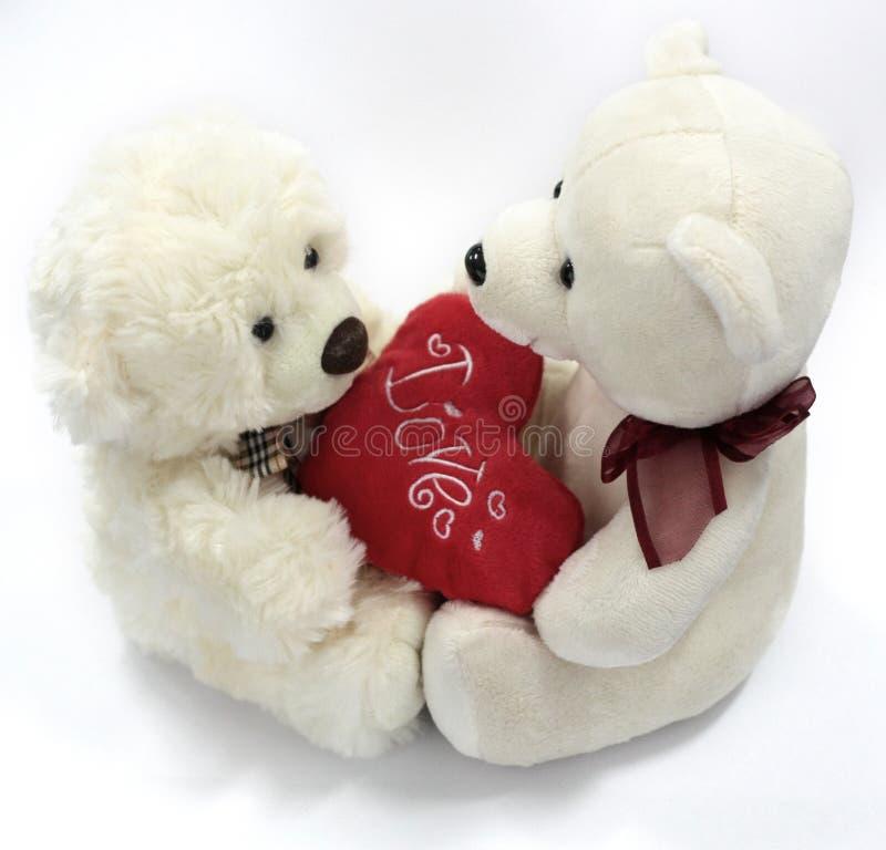 Ursos do Valentim imagem de stock