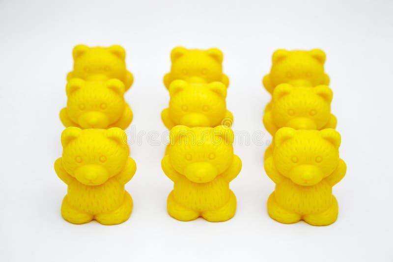 Ursos plásticos do brinquedo imagem de stock royalty free
