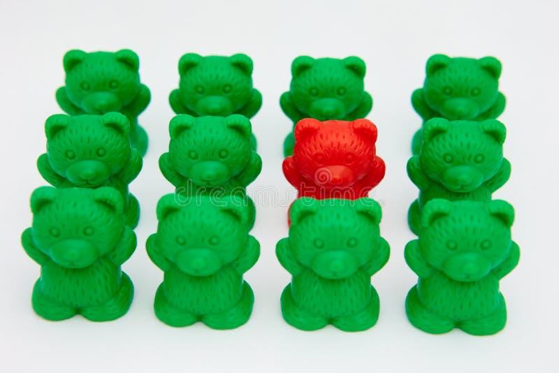 Ursos plásticos do brinquedo foto de stock