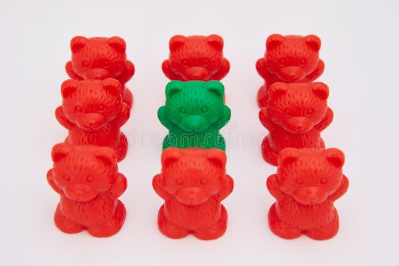 Ursos plásticos do brinquedo imagens de stock royalty free