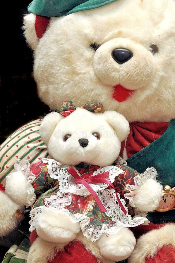 Ursos teedy enchidos do ofício foto de stock royalty free