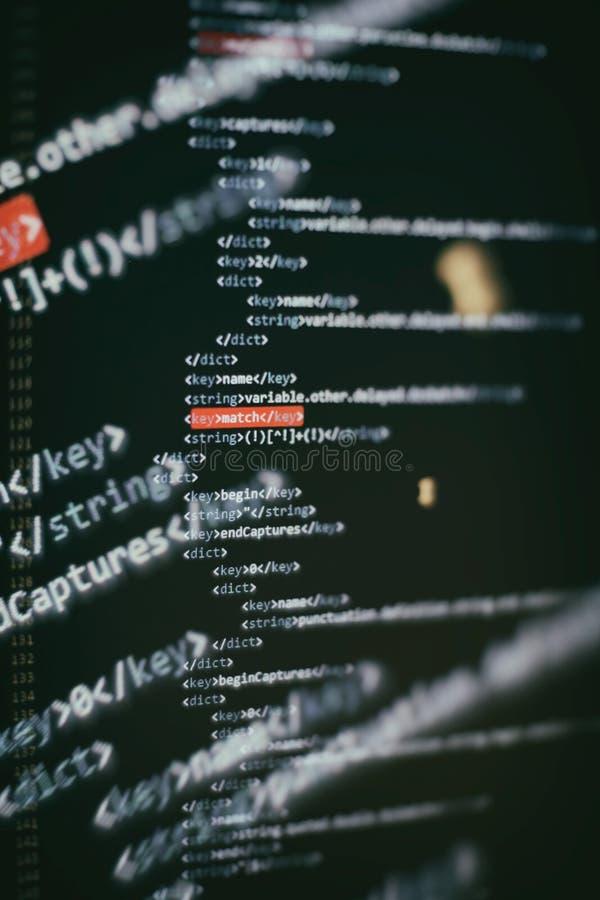 Ursprüngliche Formulierung des Datenverarbeitungsproblems zu den ausführbaren Computerprogrammen wie Analyse, sich Entwickeln, Al stockfoto
