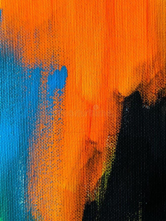 Ursprüngliche Handgezogene Acrylmalerei auf Segeltuch Zeitgenössische Kunst vektor abbildung