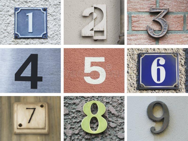 Ursprüngliche Hausnummern 10 bis 18 lizenzfreie stockfotos
