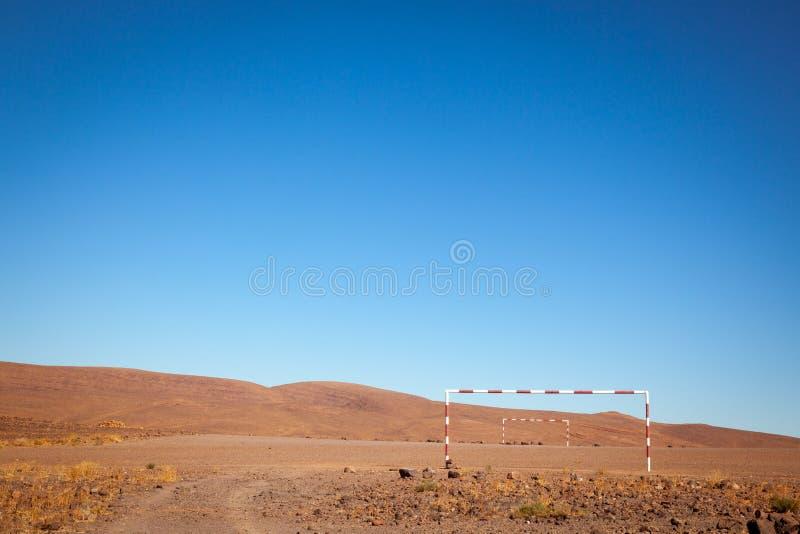 Ursprünglicher Fußballplatz stockfoto