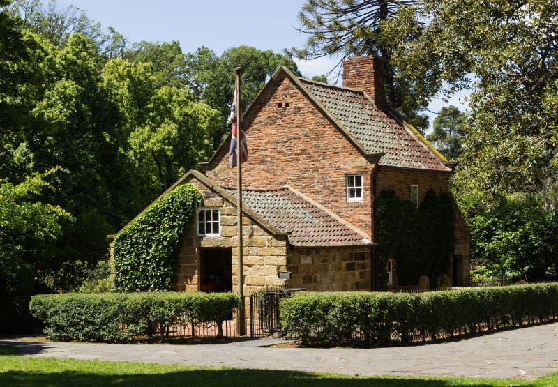 Ursprüngliches Haus von Kapitän Cook in Melbourne lizenzfreie stockbilder