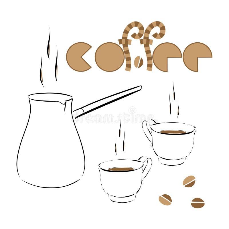 Ursprüngliches Logo des Kaffees stockfotos