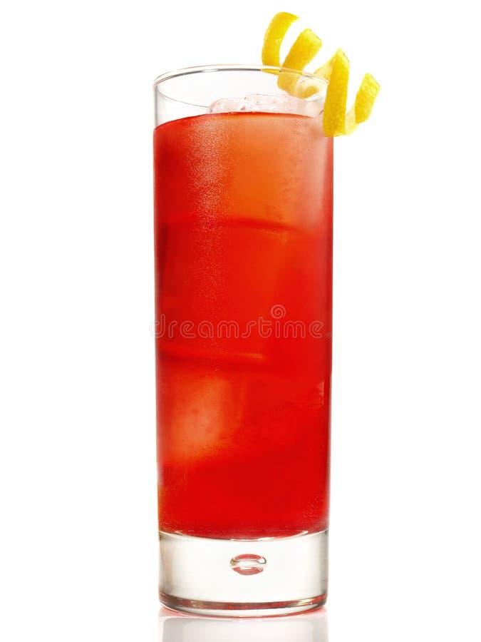 Ursprüngliches Negroni-Cocktail auf weißem Hintergrund stockfotos