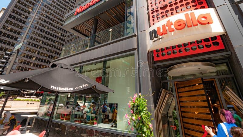 Ursprüngliches Nutella-Café an Michigan-Allee in Chicago - CHICAGO, USA - 12. JUNI 2019 stockfoto