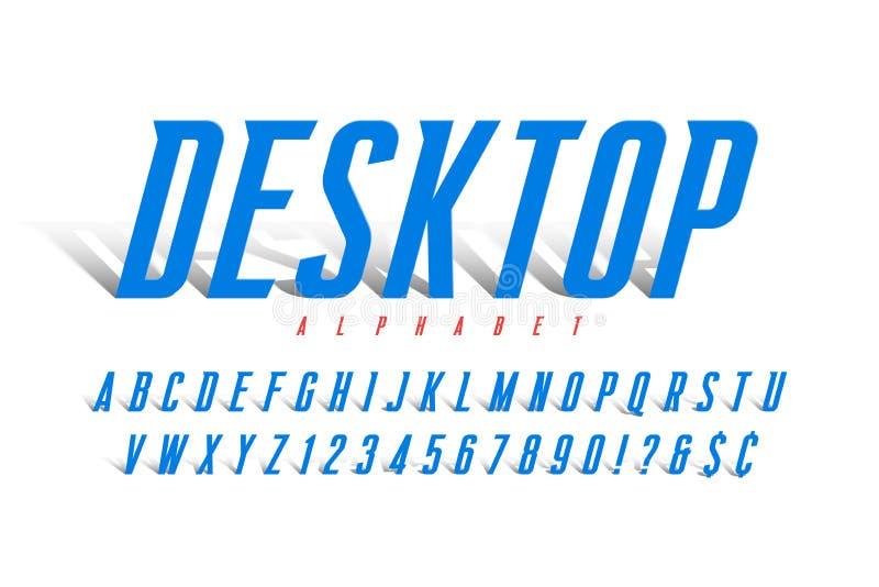 Ursprungligt kondenserat alfabet, tecken för kreativ vektor har angetts royaltyfri illustrationer