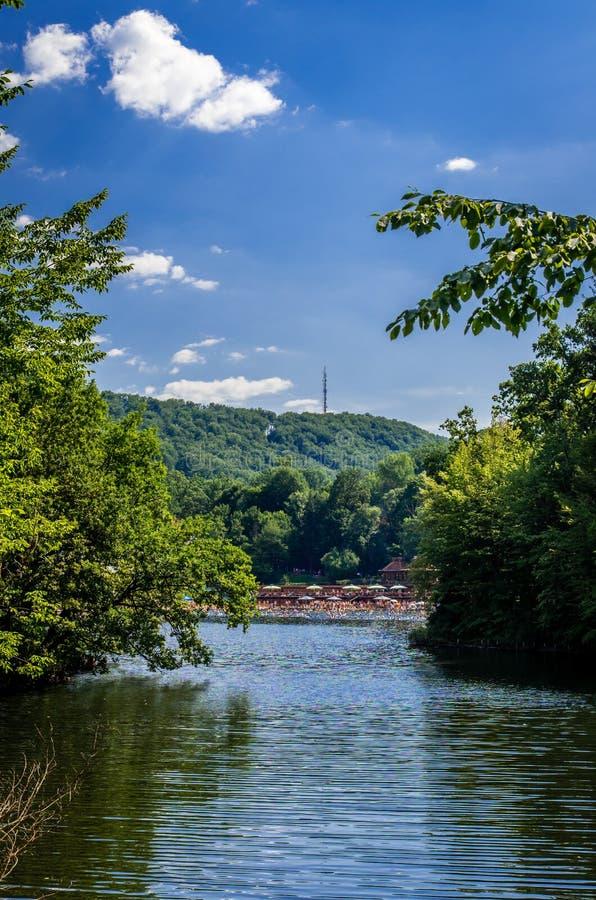 Ursu湖,索瓦塔,罗马尼亚 免版税库存照片