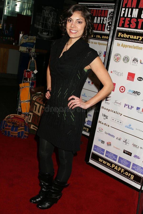 Ursula Taherian bij de Pan Afrikaanse Première van het Festival van de Film van ?Layla?. Het Theater van het Plein van Culver, Cul royalty-vrije stock fotografie