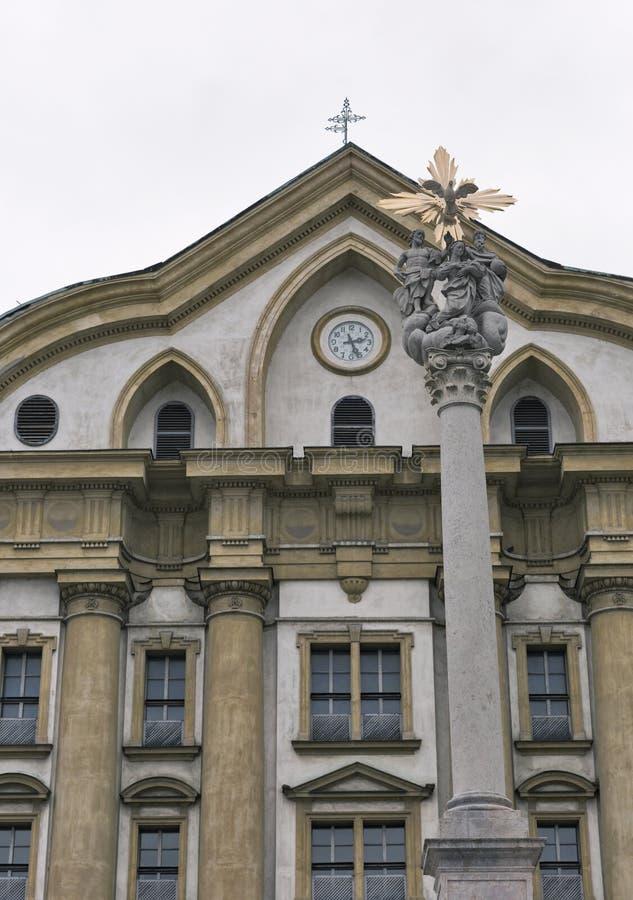 Ursuline Church da trindade santamente em Ljubljana, Eslovênia imagem de stock
