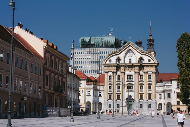 Urszulanka kościół Święta trójca, Ljubljana obraz stock