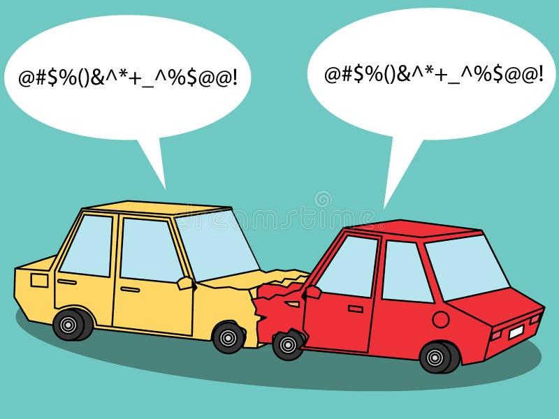 Urtare di incidente stradale royalty illustrazione gratis