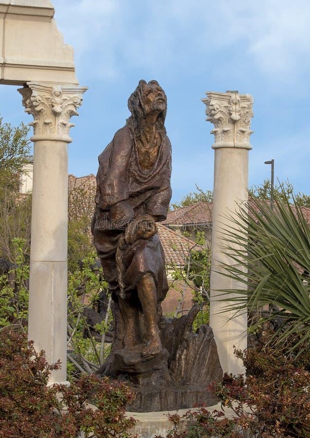 ?Urteil ?durch Gib Singleton im Via Dolorosa-Skulptur-Garten des Museums der biblischen Kunst in Dallas, Texas lizenzfreie stockbilder