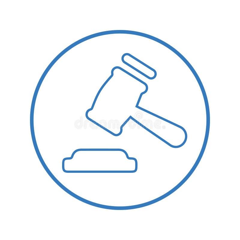 Urteil-Ikone, Hammer lizenzfreie abbildung