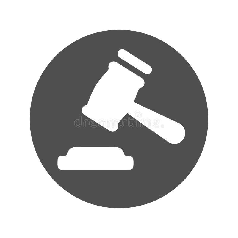 Urteil-Ikone, Hammer stock abbildung