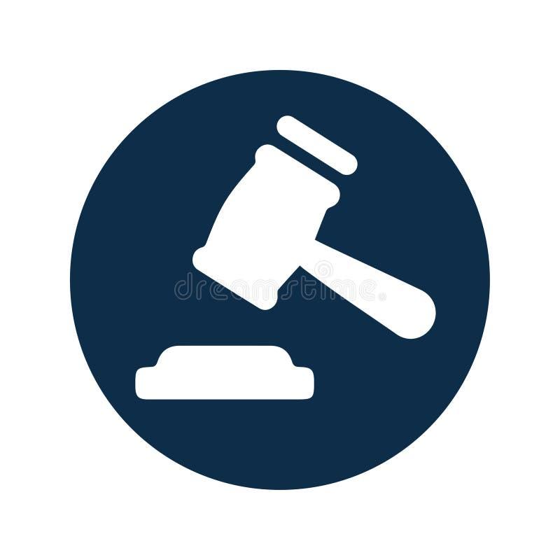 Urteil-Ikone, Hammer vektor abbildung