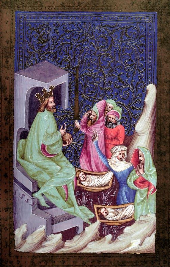 Urteil von Solomon lizenzfreies stockbild