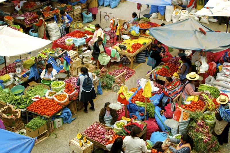 Urubamba farmermarkt, Peru royalty-vrije stock afbeeldingen