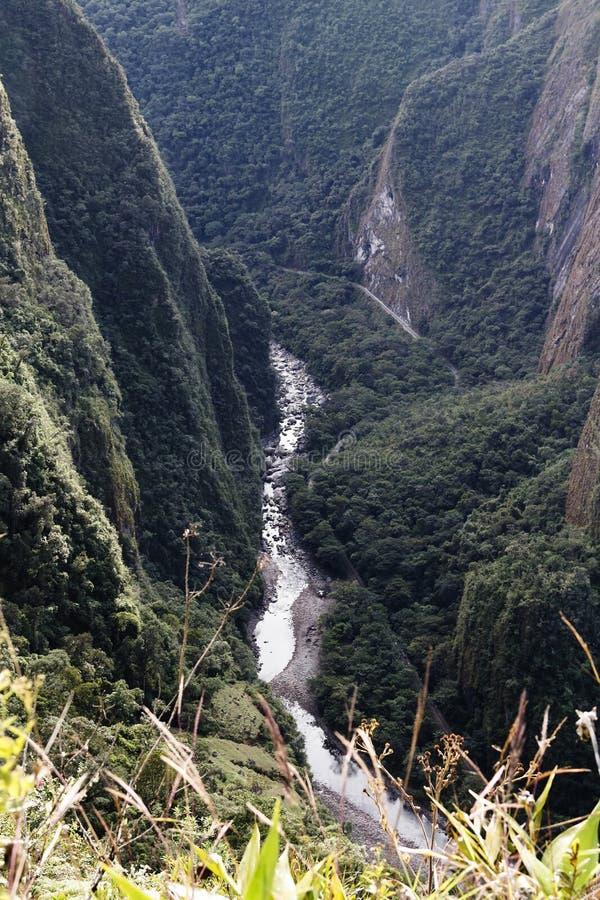 Urubamba River Valley visto de Machu Picchu Peru South America fotografia de stock