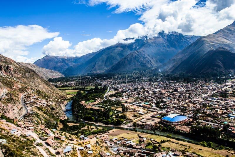 Urubambarivier in Peru stock afbeelding