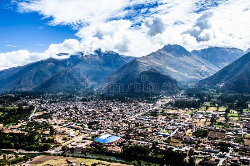 Urubambarivier in Peru royalty-vrije stock foto