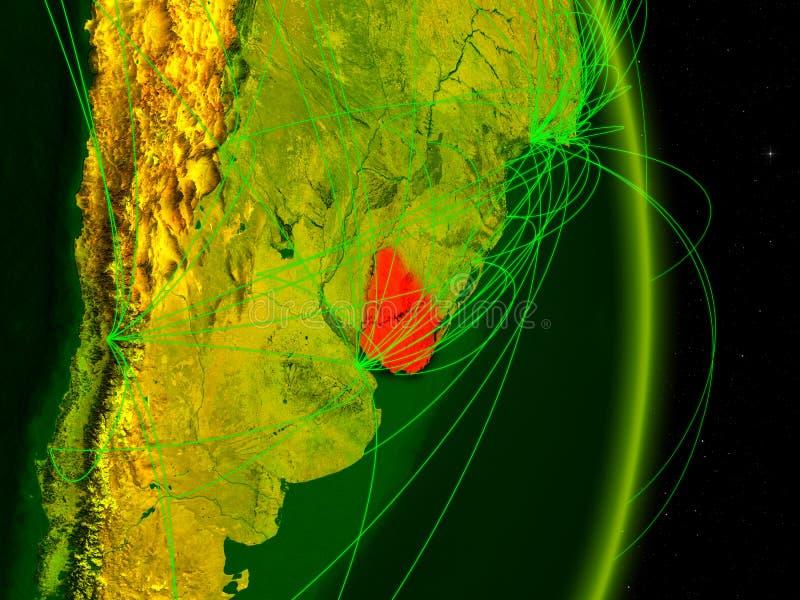 Uruguai na terra digital ilustração stock