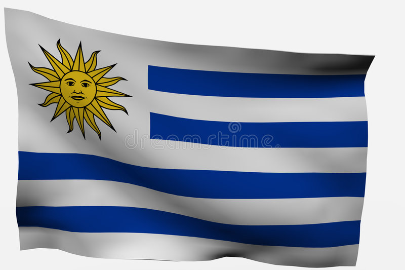 Download Uruguay 3d flag stock illustration. Image of national - 7733396