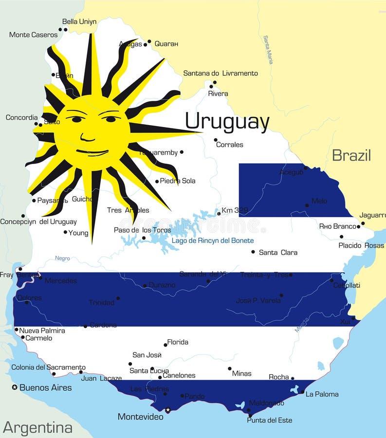 Uruguay vektor illustrationer