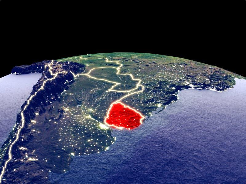 Uruguay en la tierra del espacio libre illustration
