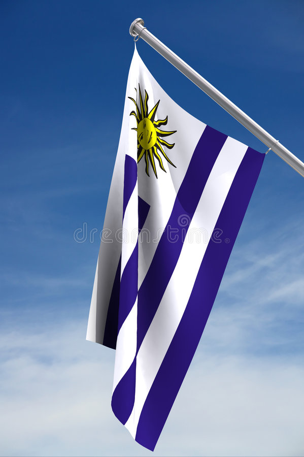 Uruguay flag stock photo