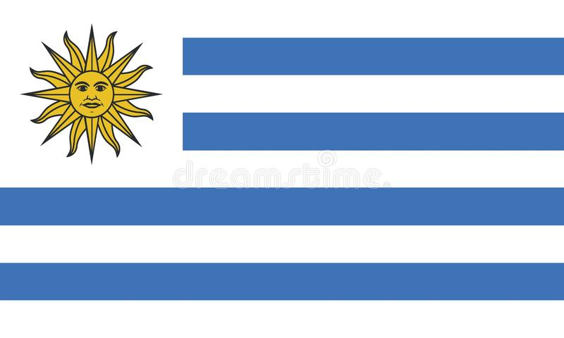 Uruguay flagga stock illustrationer