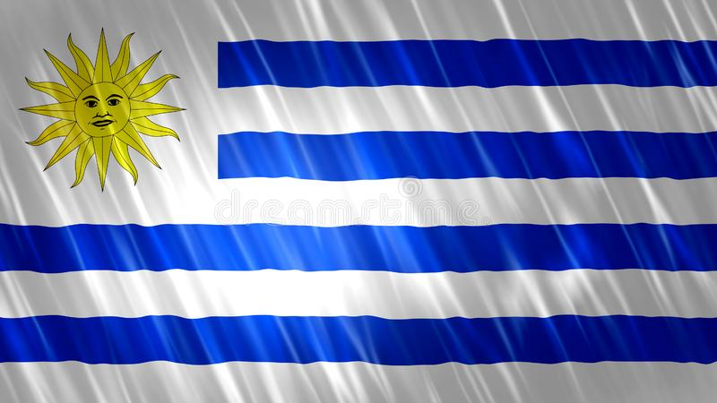 Uruguay flagga arkivbild