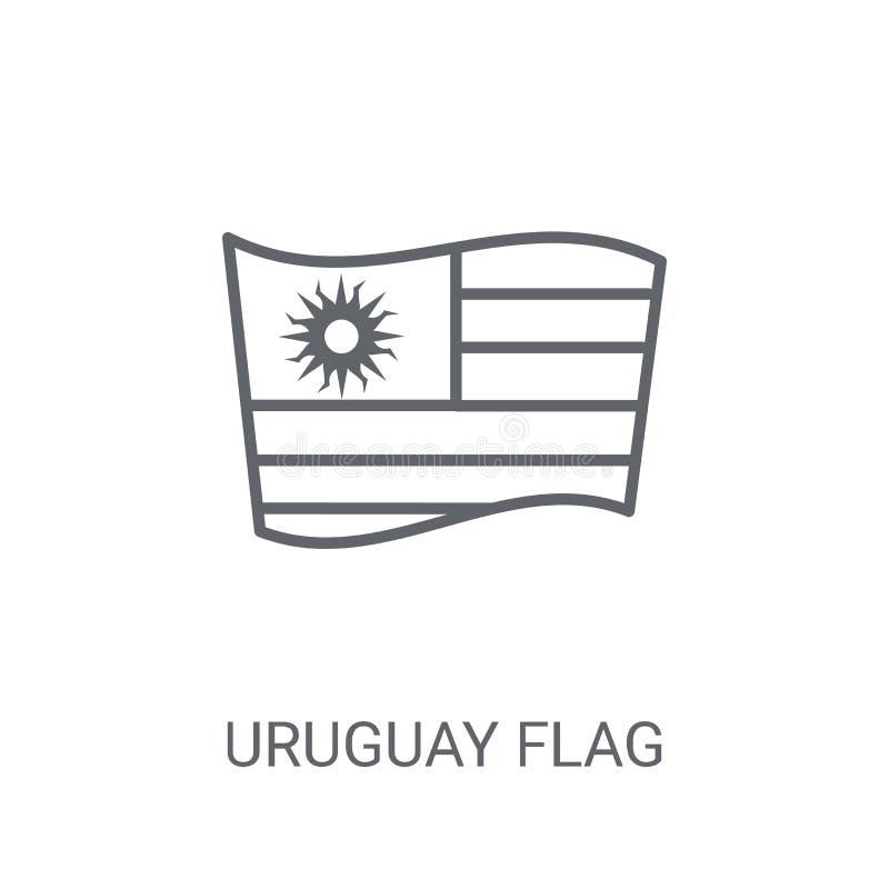Uruguay flaggasymbol Moderiktigt begrepp för Uruguay flaggalogo på vit bac vektor illustrationer