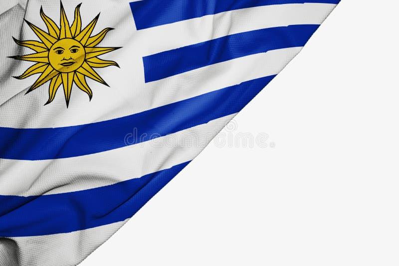 Uruguay-Flagge des Gewebes mit copyspace f?r Ihren Text auf wei?em Hintergrund vektor abbildung