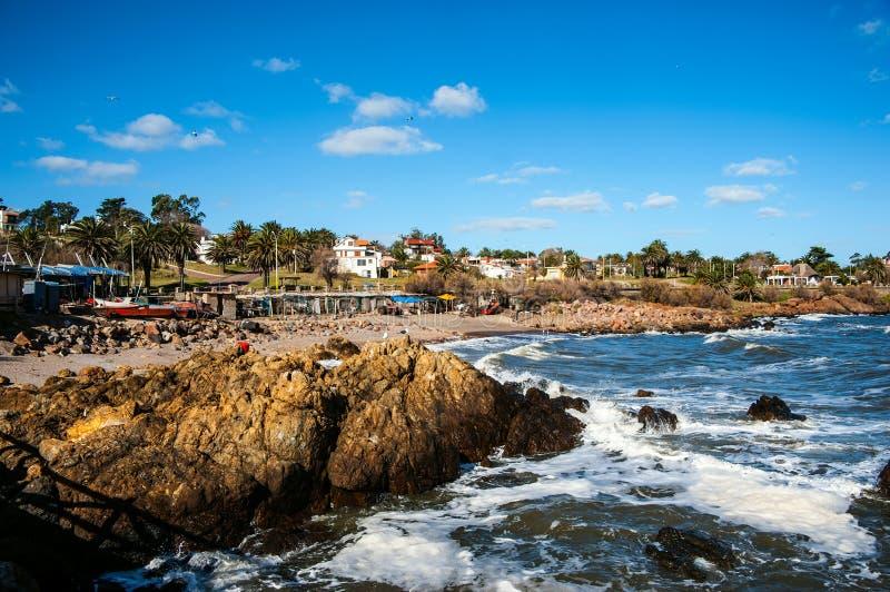 Uruguay kust arkivfoton