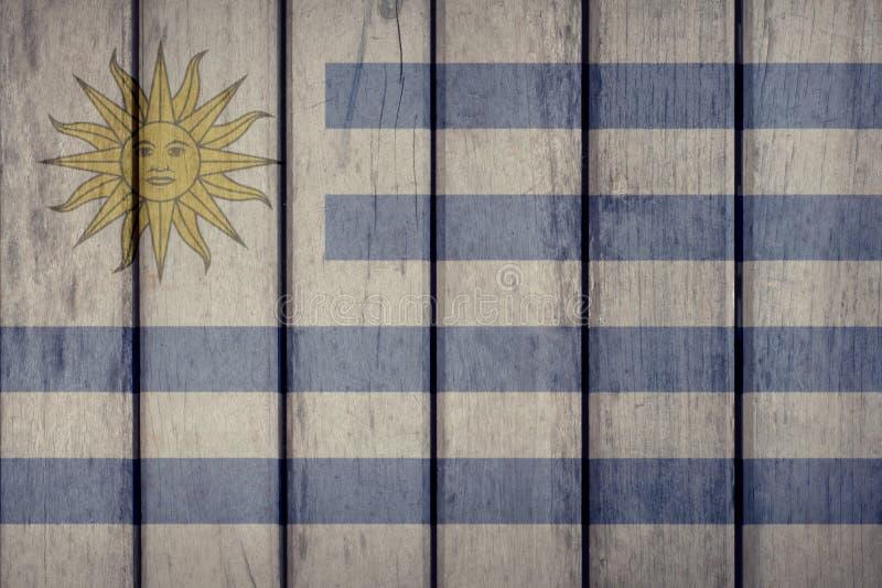 Uruguay Flag Wooden Fence. Uruguay Politics News Concept: Uruguayan Flag Wooden Fence stock illustration