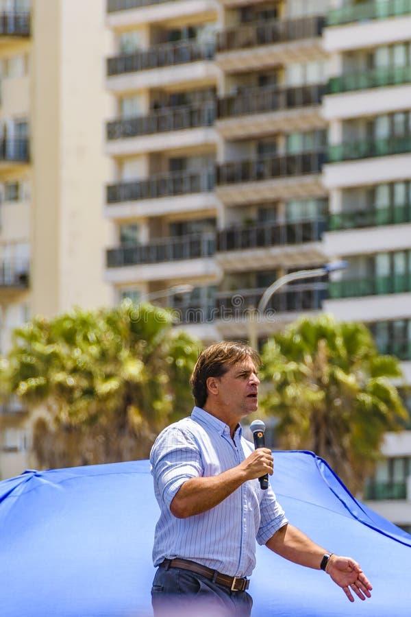 Uruguay President Talking at Political Act , Montevideo, Uruguay royalty free stock photos
