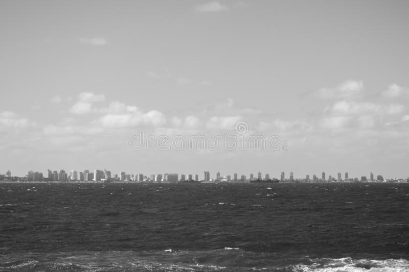 Uruguay, Punta del este beach royalty free stock photos