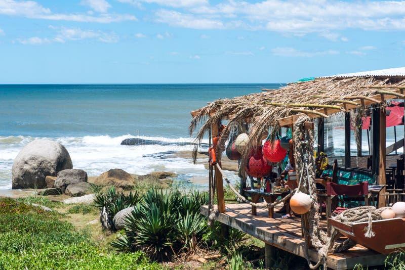 Uruguay Rocha, Punta del Diablo royaltyfri fotografi