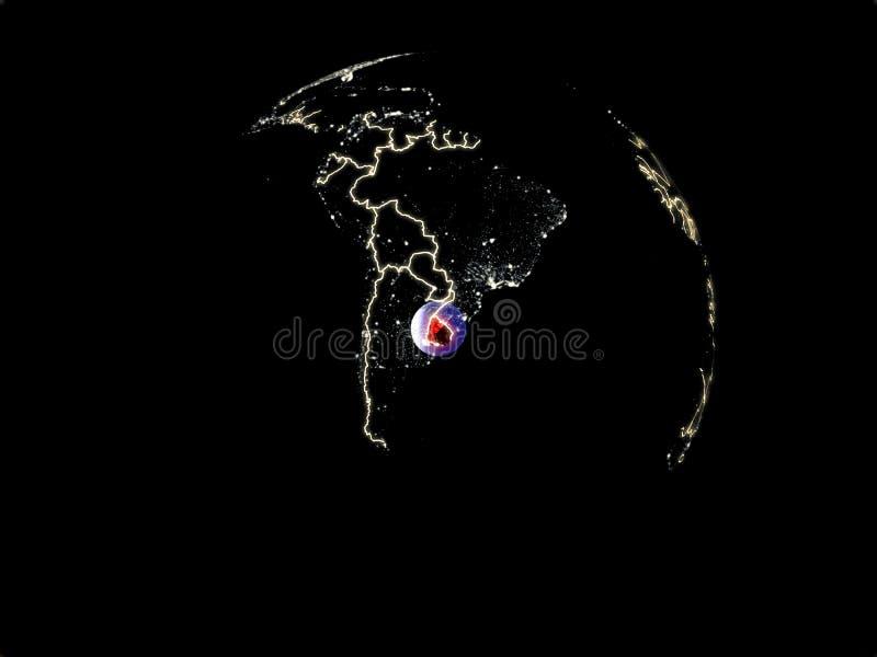 Uruguay ter wereld van ruimte vector illustratie