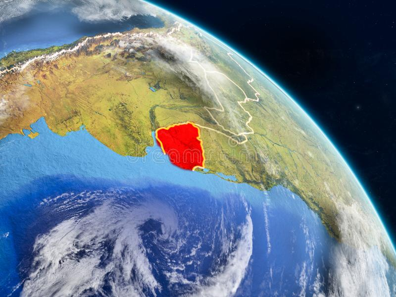 Uruguay van ruimte royalty-vrije illustratie