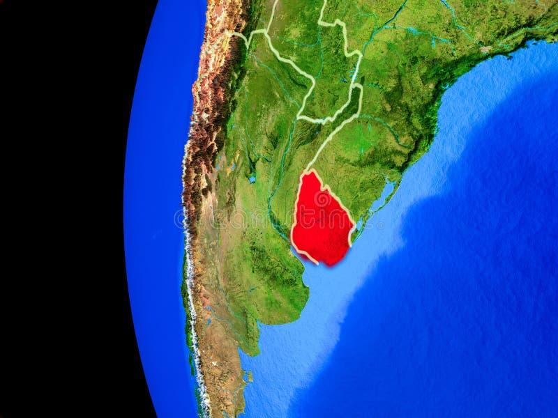 Uruguay van ruimte stock illustratie