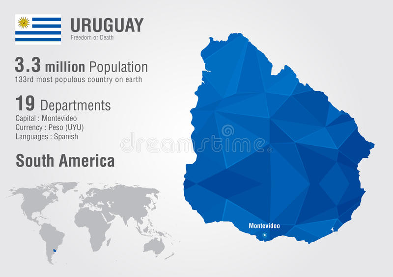 Uruguay world map with a pixel diamond texture stock vector download uruguay world map with a pixel diamond texture stock vector illustration of global gumiabroncs Image collections